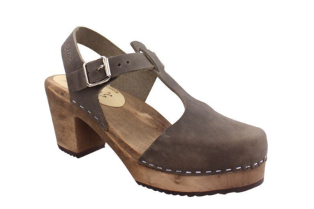 Sunday Supply Co. Highwood T-Bar Brown Base shoes - Taupe Nubuck