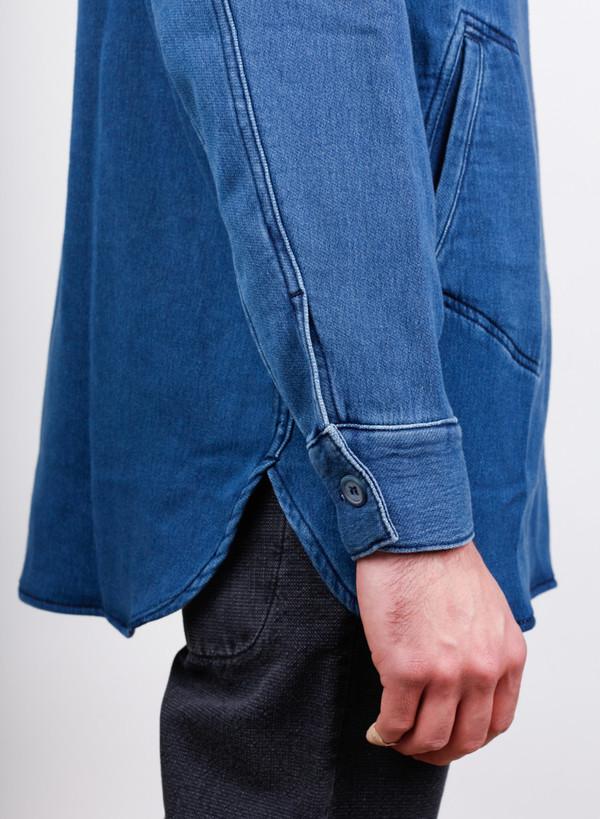 Men's Bleu De Paname Chemise Fatigue Bleached