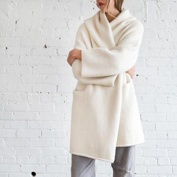 Lauren Manoogian Capote Coat White