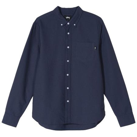 Stussy Classic Oxford Long Sleeve Shirt - Navy