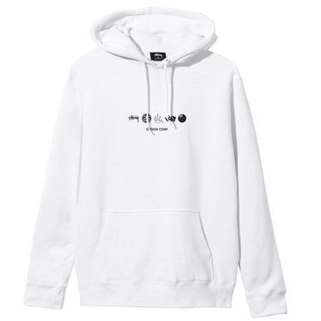 Stussy Global Desigh Corp. Hoodie - White