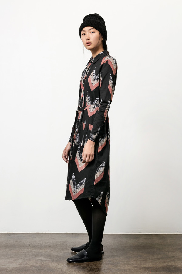 Osei-Duro Causa Dress in Chevrons