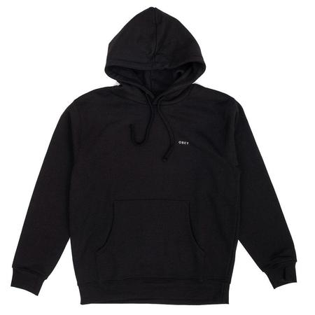 Obey 3 Face Collage Substainable Hood - Black