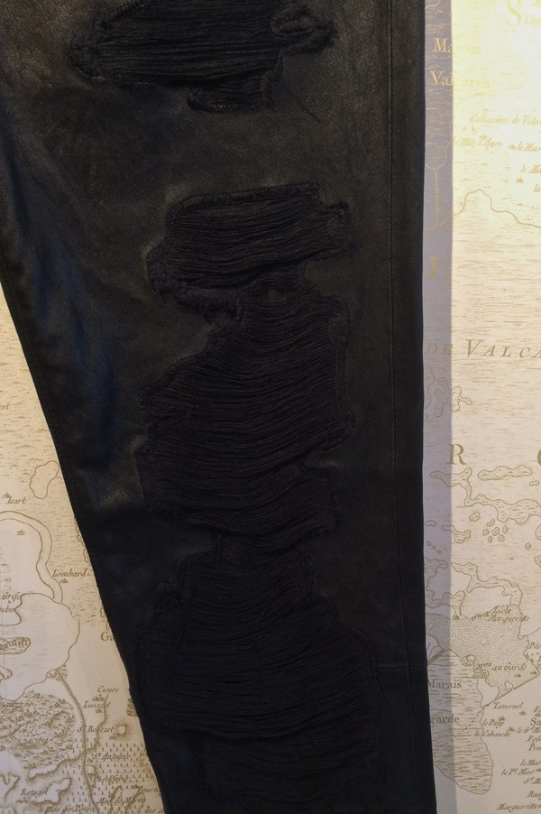 RtA 'Dorian' Destroyed Leather Pant