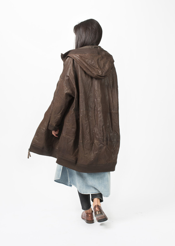 Rundholz Hooded Leather Trench