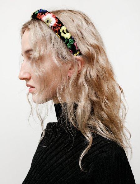 Shrimps Womens William Beaded Headband - velvet