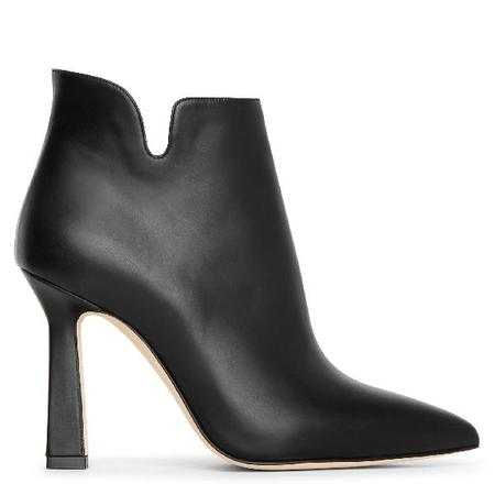 Manolo Blahnik zipForlana Leather Booties