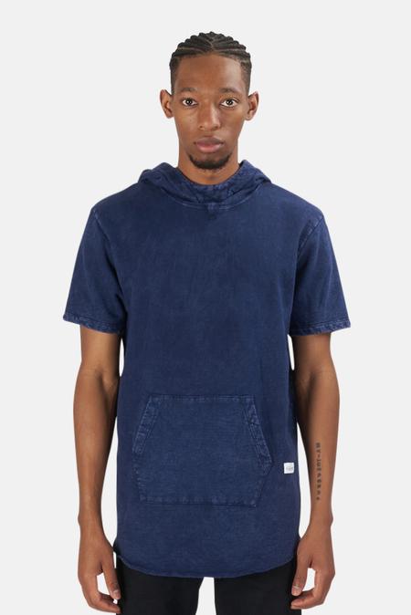Blue&Cream x Kinetix Hampton Nights Short Sleeve Hoodie Sweater - Blue Mineral