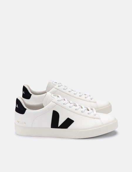 Veja Campo Chrome Free Leather Trainers - White/Black