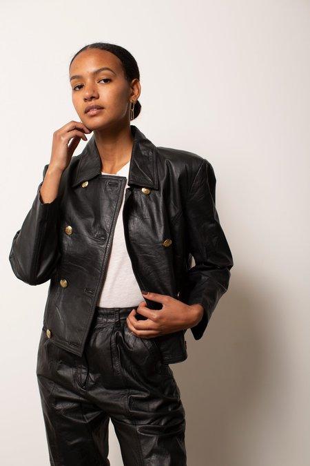 Preservation Vintage 80's Leather Jacket - Black