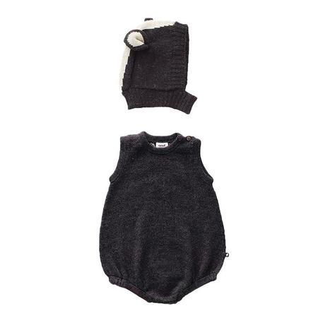 KIDS Oeuf NYC Baby Two Piece Skunk Set - Black