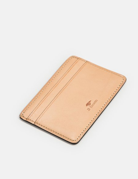 Il Bussetto Small Leather Card Holder - Bordeaux