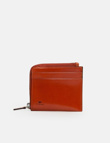 Il Bussetto Small Zippy leather Wallet Leather - Orange