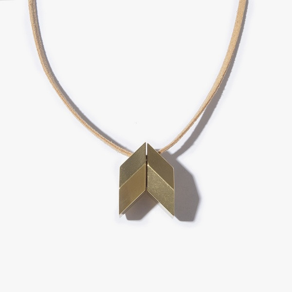 Iacoli & McAllister Brass Hex Necklace