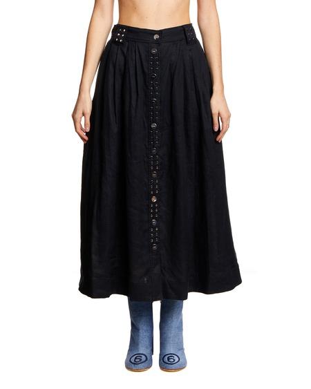 GANNI Flared Midi Skirt - Black