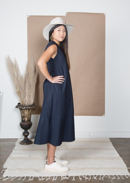 SBJ Austin Winny Dress - Navy Poplin