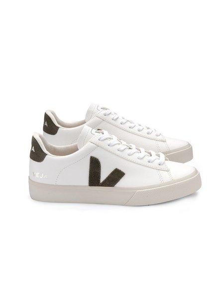 VEJA Campo Chromefree Leather - White/Kaki