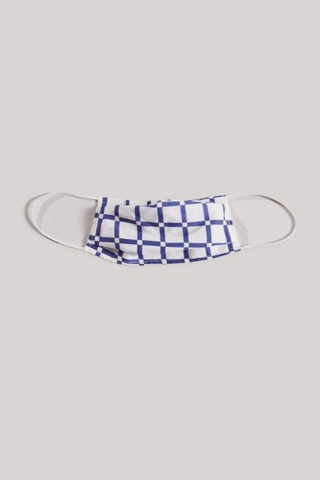 Rachel Comey Alice Loop Mask - Black Grid Voile