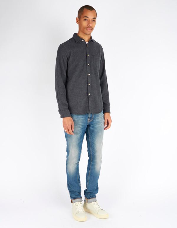 Portuguese Flannel Teca Shirt Grey