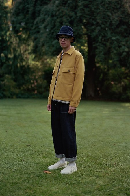 Universal Works Strummer Jacket - Yellow Melton