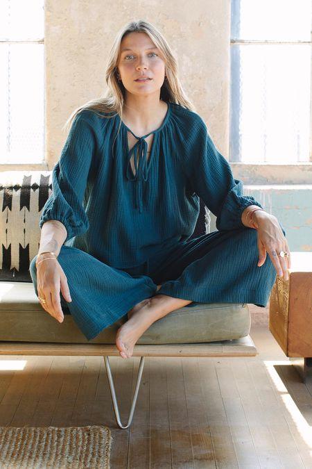 Rachel Pally Gauze Sabrina Top - Cedar
