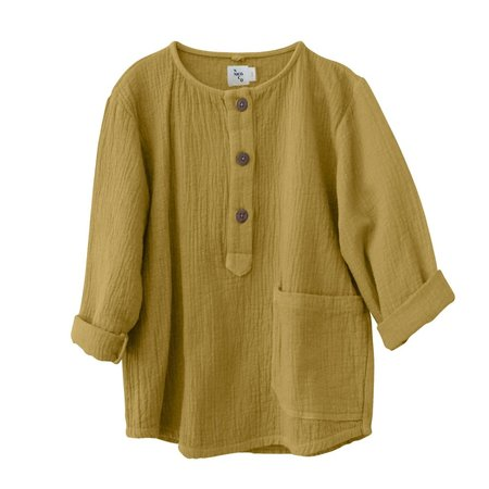kids nico nico Jamie Quilted Henley - Gold