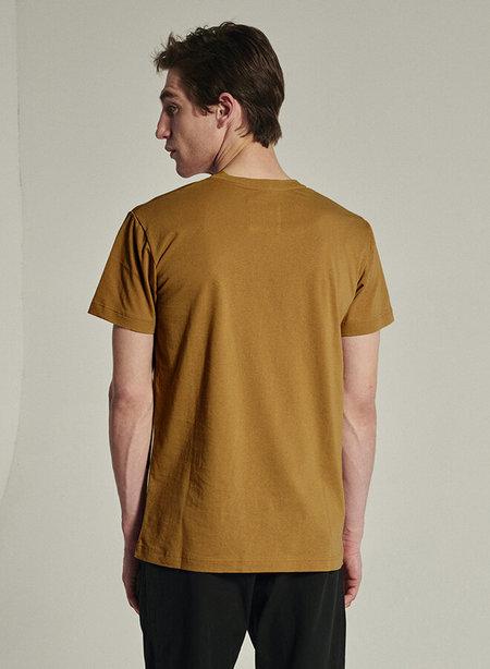 delikatessen Organic Cotton Short Sleeve T-Shirt - Mustard