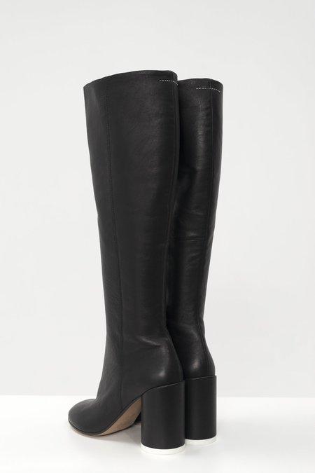 MM6 Maison Margiela 6 Heel Ankle Boots - Black