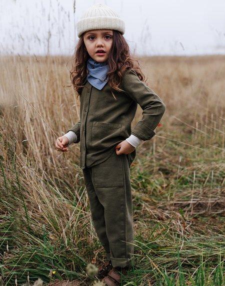 Kids Noble Organic Chore Jacket - Olive