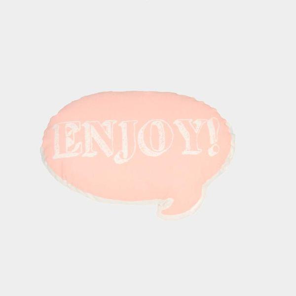 Ah, Quel Plaisir! Pink Enjoy Pillow - Dodo Les Bobos