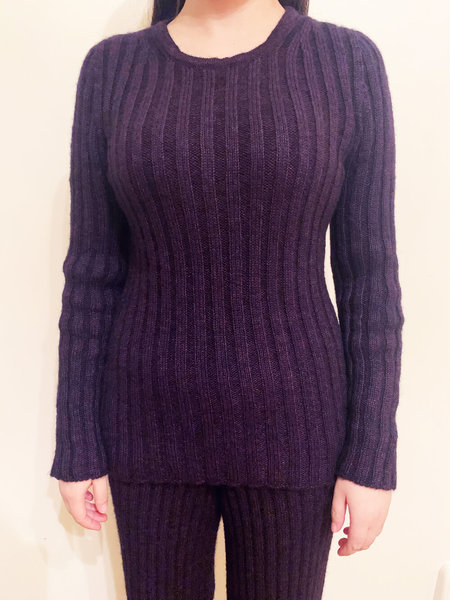 Baserange Simin Mohair Cotton Long Sleeve Pullover