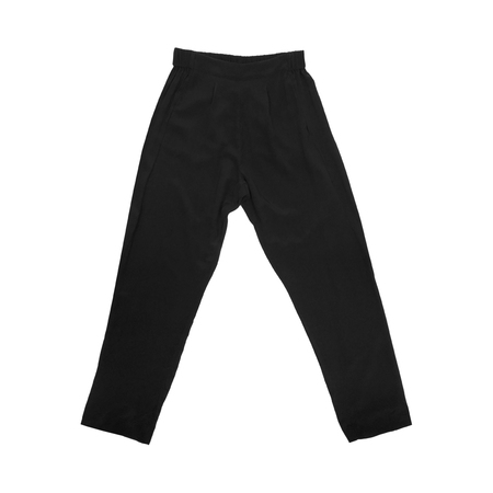 Ali Golden Silk Ankle Pant - Black