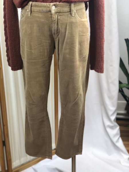 [Pre-loved] Mother The Looker Crop Cords - Camel