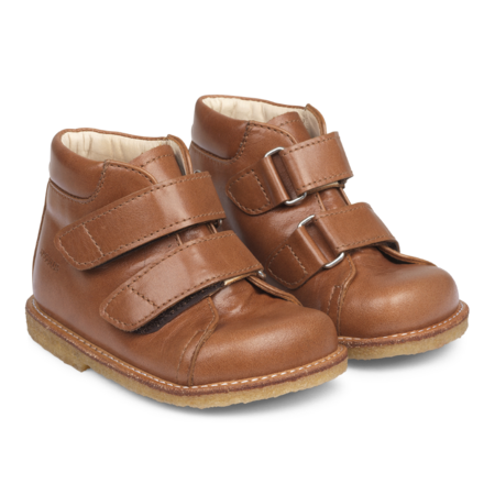 KIDS angulus starter velcro cognac boot - Brown