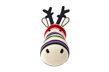 Anne-Claire Petit Reindeer Mixed Stripe Trophy Head - Dodo Les Bobos