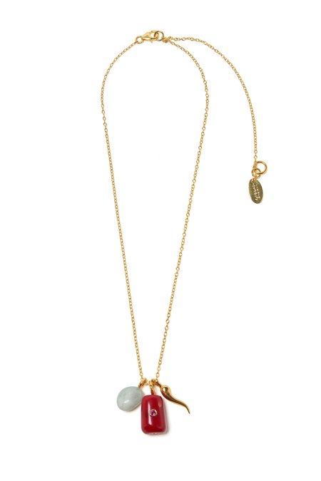 Lizzie Fortunato Coral Oasis Necklace - gold plated