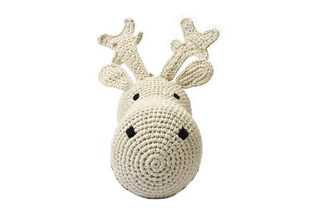 Anne-Claire Petit Reindeer Cream Lurex Trophy Head - Dodo Les Bobos