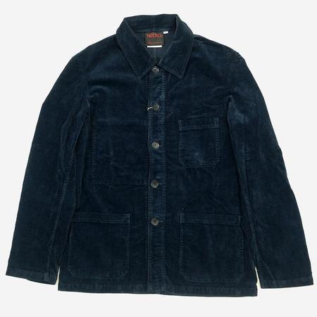 Vetra Workwear Chore Soft Corduroy Jacket - Navy
