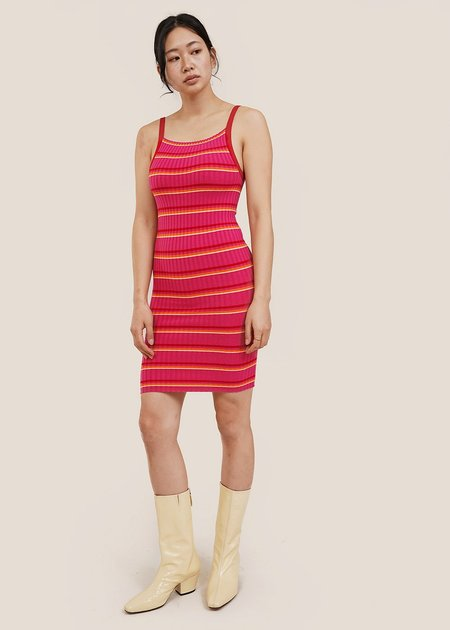 giu giu Nonna Slip Dress - Pink Jelly