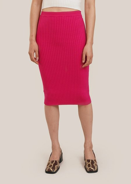 giu giu Nonna Tube Skirt - Dragon Pink