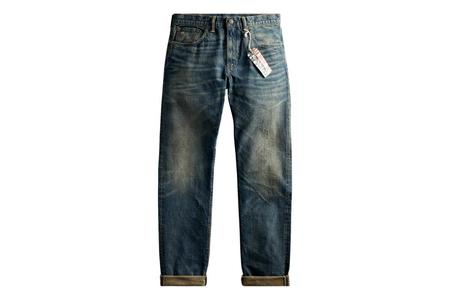 RRL Conrad Wash Slim Fit Jean - Blue