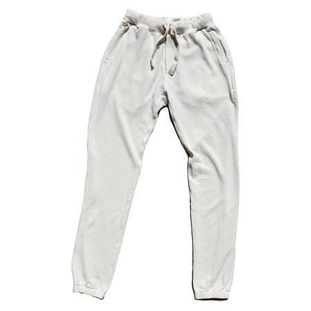 unisex Jungmaven Washed Yelapa Sweatpant - White