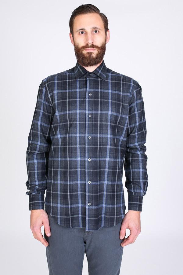 Men's Culturata Borghese Shirt in Grey Plaid
