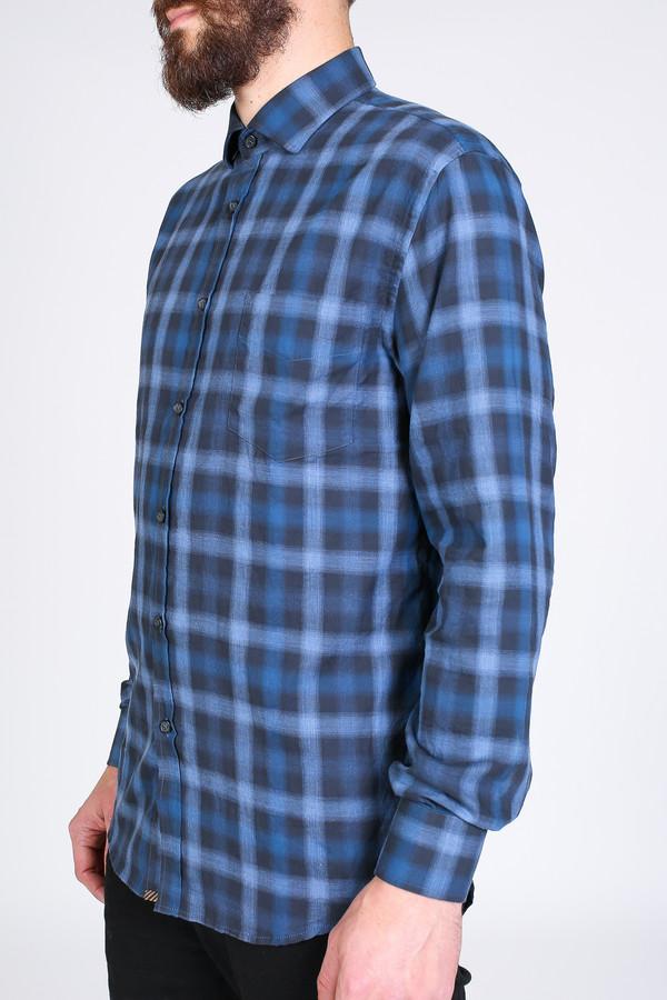 Men's Billy Reid John Shirt in Blue/Charcoal