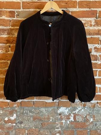 Renli Su Reversible velvet jacket - Black