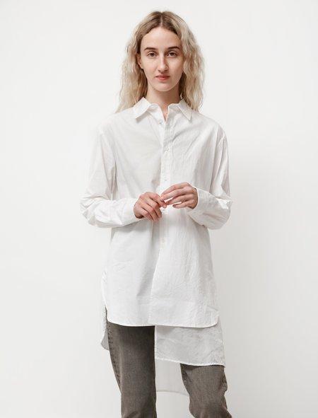 Y's by Yohji Yamamoto Cotton Cupro Layered Shirt - White