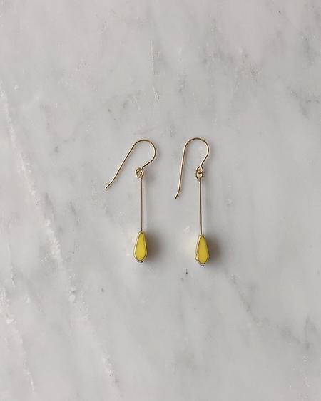 Vamp Shoes I. Ronni Kappos Tear Drop Earrings - Yellow