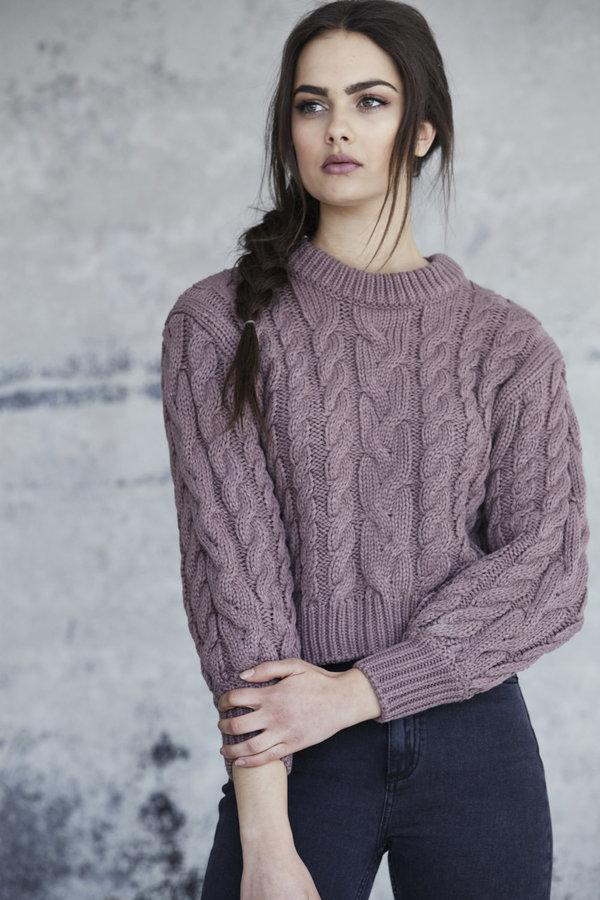 Callahan Braid Crop Sweater