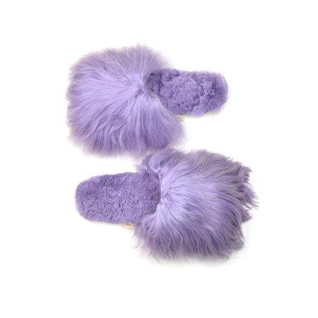 Ariana Bohling Suri Alpaca Slipper - Lavender