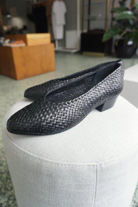 St. Agni Cisco Woven Heel - Black